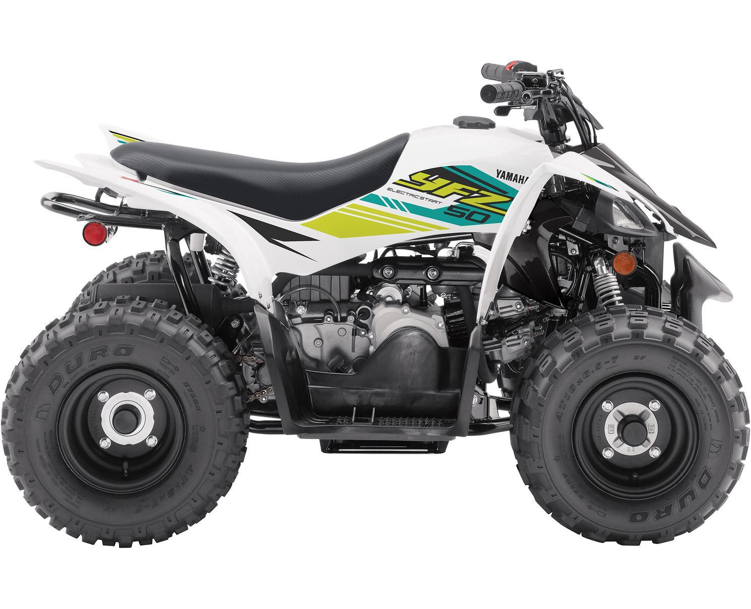 2021 Yamaha YFZ50 White-White