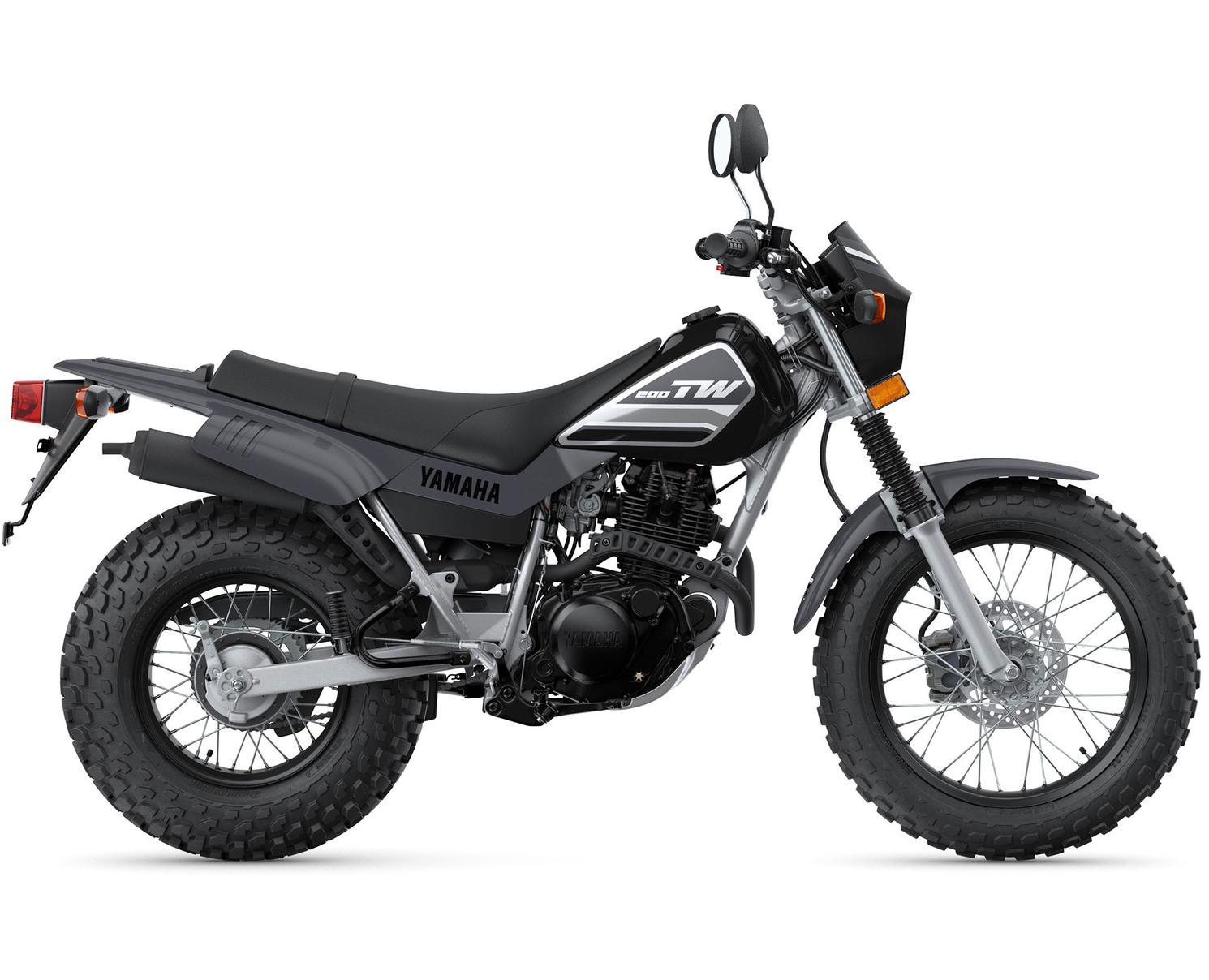 2021 Yamaha TW200 Metallic Black