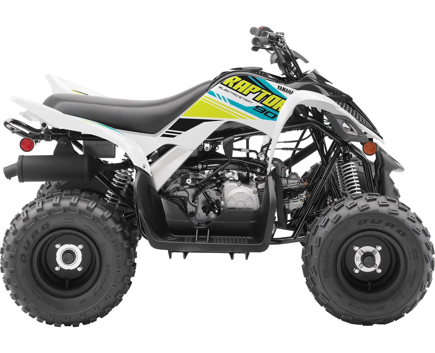 2021 Yamaha Raptor 90 White-Tan