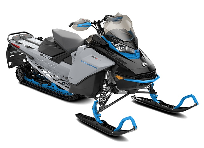 Ski-Doo Backcountry Rotax 850 E-TEC Gris catalyst / Bleu octane 2022