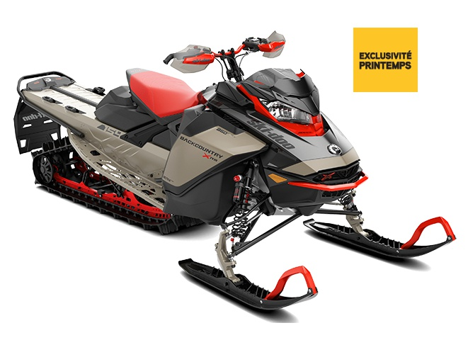 Ski-Doo Backcountry X-RS  Titane liquide ultime / Noir carbone 2022