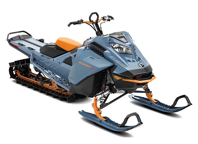 Ski-Doo Summit X Rotax 850 E-TEC Turbo Bleu scandinave ultime / Orange crush 2022