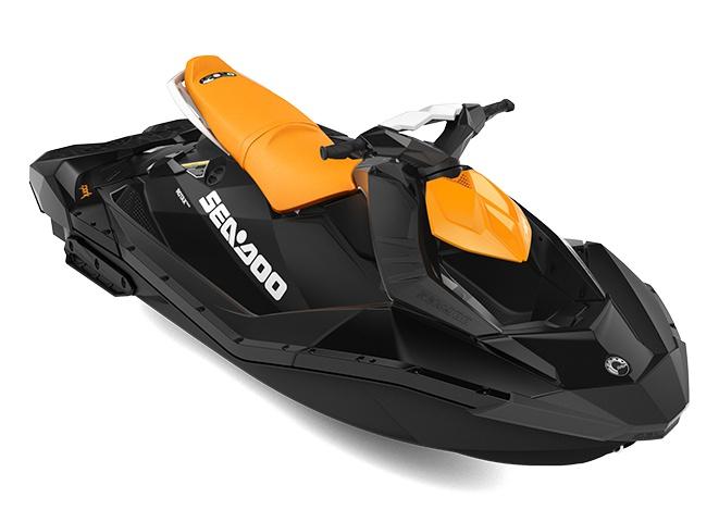 2021 Sea-Doo Spark 3 up Orange Crush / Deep Black