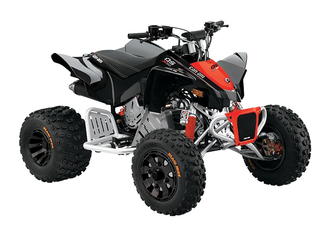 2021 Can-Am DS 90 X Black & Can-Am Red
