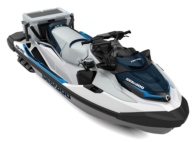 2021 Sea-Doo Fish Pro 170 White / Gulfstream Blue
