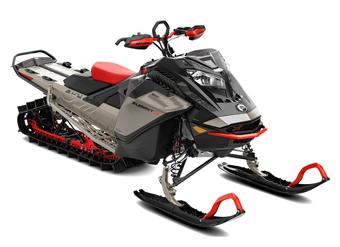 Ski-Doo Summit X with Expert Package Rotax 850 E-TEC Turbo Titane liquide ultime / Noir carbone 2022