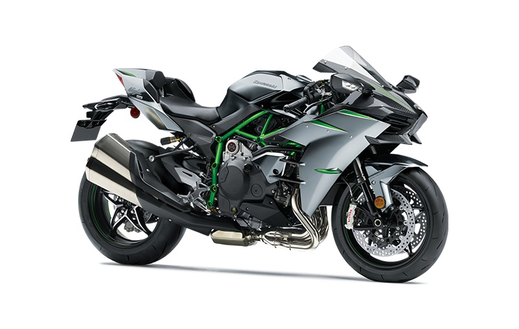 2021 Kawasaki NINJA H2 CARBON Mirror Coated Matte Spark Black/Candy Flat Blazed Green