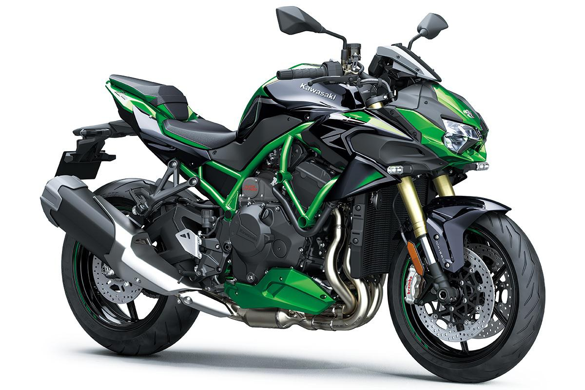 2021 Kawasaki Z H2 SE Metallic Diablo Black / Golden Blazed Green