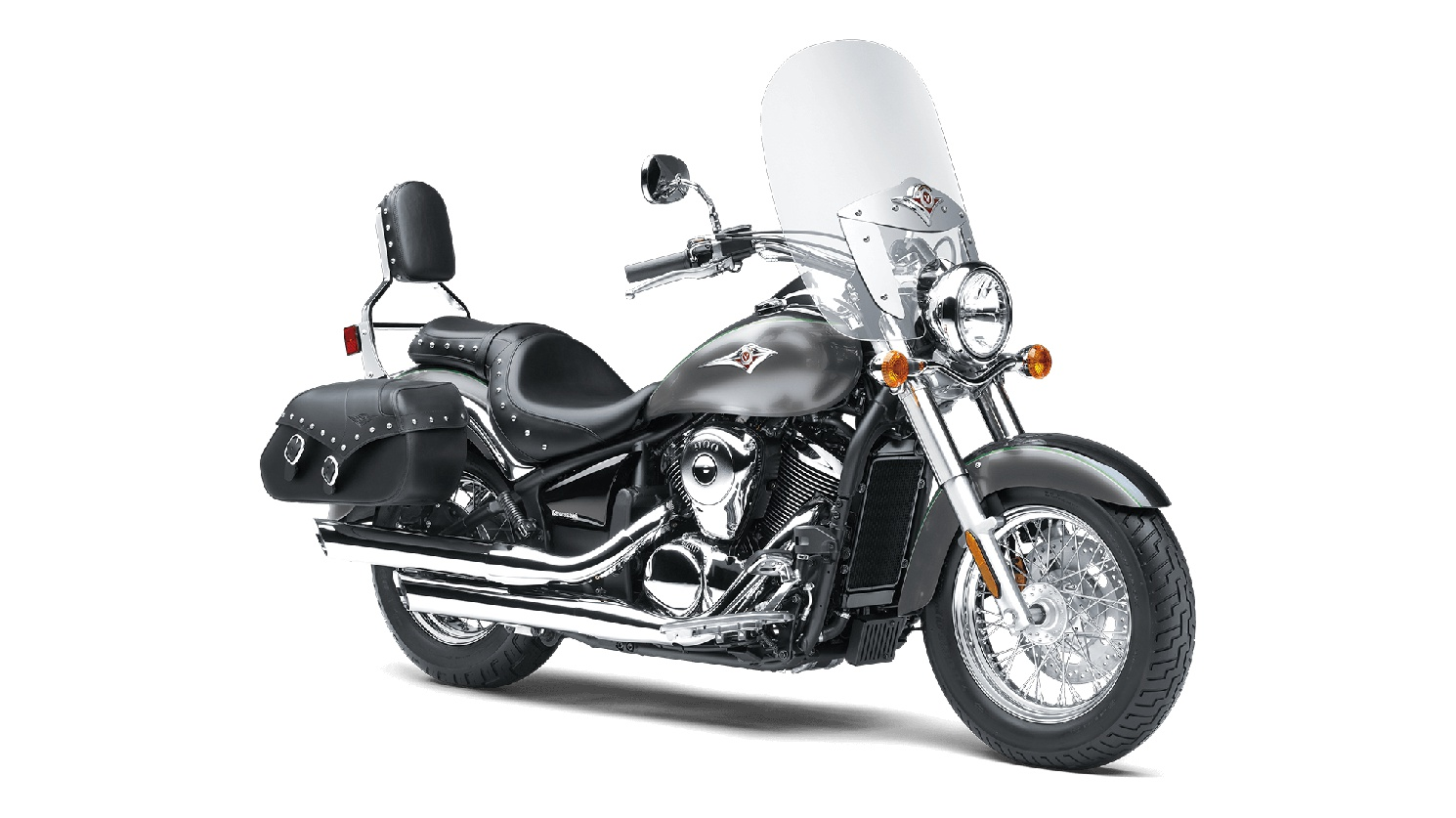 Kawasaki VULCAN 900 CLASSIC LT Argent Furtif Métallisé/Gris Carbone Métallisé 2020