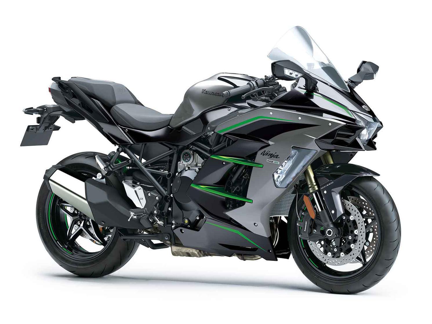 2020 Kawasaki NINJA H2 SX SE Metallic Graphite Gray/Metallic Diablo Black