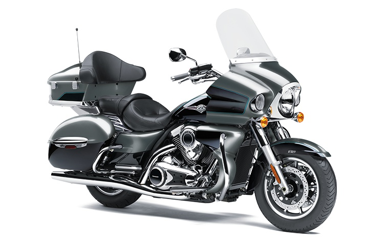 Kawasaki VULCAN 1700 VOYAGER ABS Gris Météore Perle/Noir Étincelle Métallisé 2021