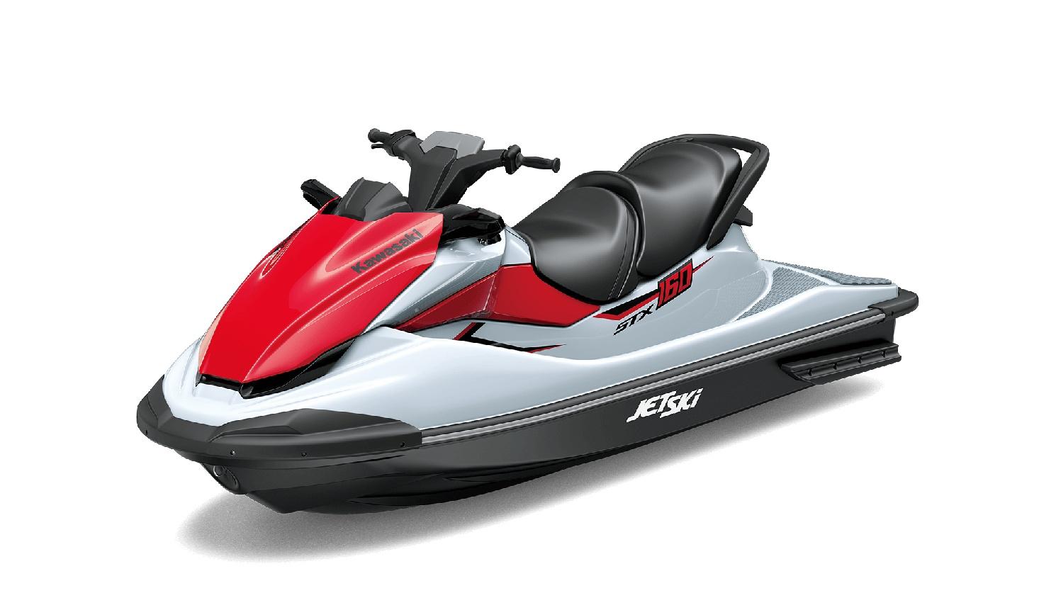 2021 Kawasaki JET SKI STX 160 Crystal White / Sunbeam Red