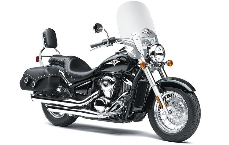 Kawasaki VULCAN 900 CLASSIC LT Gris Météore Perle/Noir Étincelle Métallisé 2021
