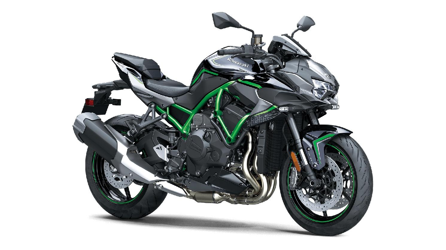2020 Kawasaki Z H2 Metallic Spark Black/Metallic Graphite Gray/Mirror Coated Spark Black