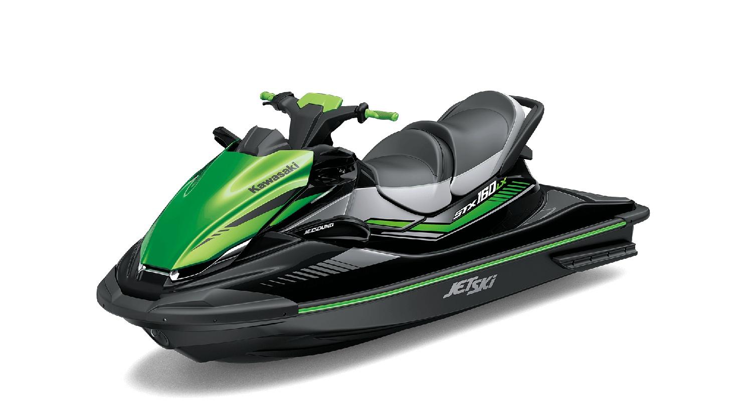 Kawasaki JET SKI STX 160LX Ébène / Vert Lime Bonbon 2021