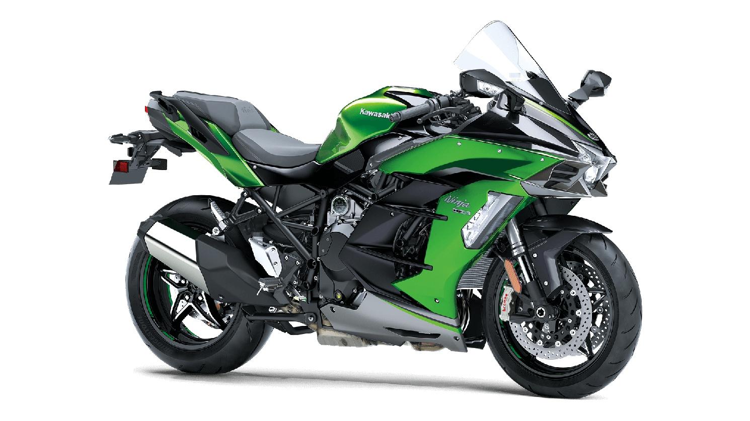 2020 Kawasaki NINJA H2 SX SE+ Emerald Blazed Green/Metallic Diablo Black