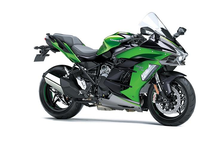 2021 Kawasaki NINJA H2 SX SE+ Emerald Blazed Green / Metallic Diablo Black / Metallic Graphite Gray