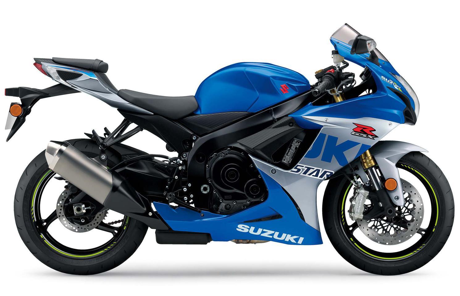 Suzuki GSX-R750 Bleu Triton Métallique / Argent Mystique Métallique 2021