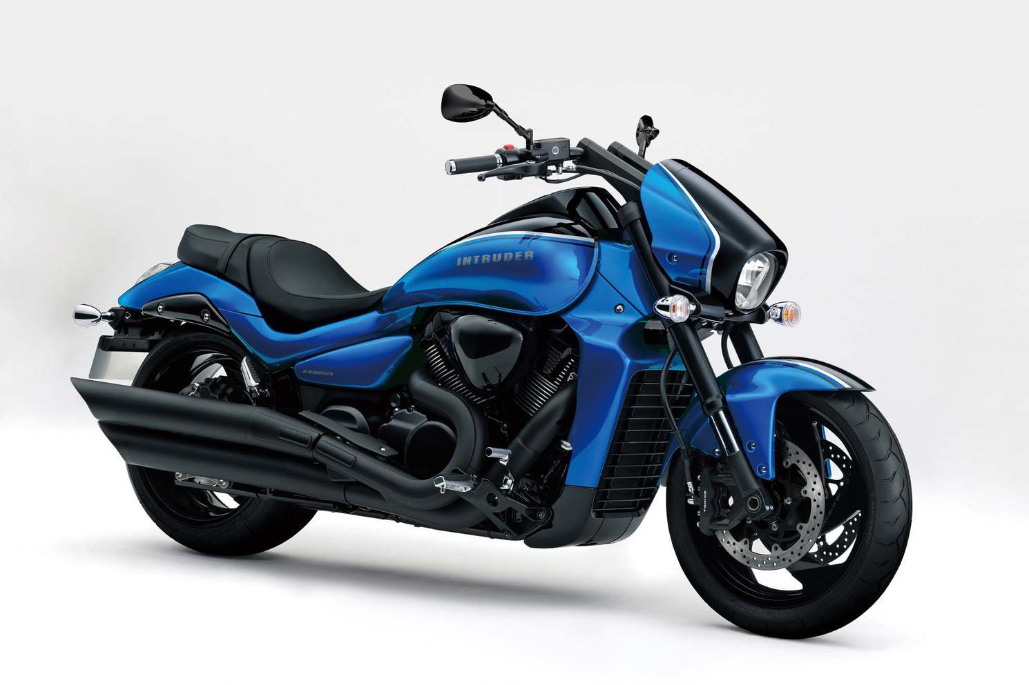 Suzuki Boulevard M109R Bleu Triton Métallique / Noir Lustré Scintillant 2021