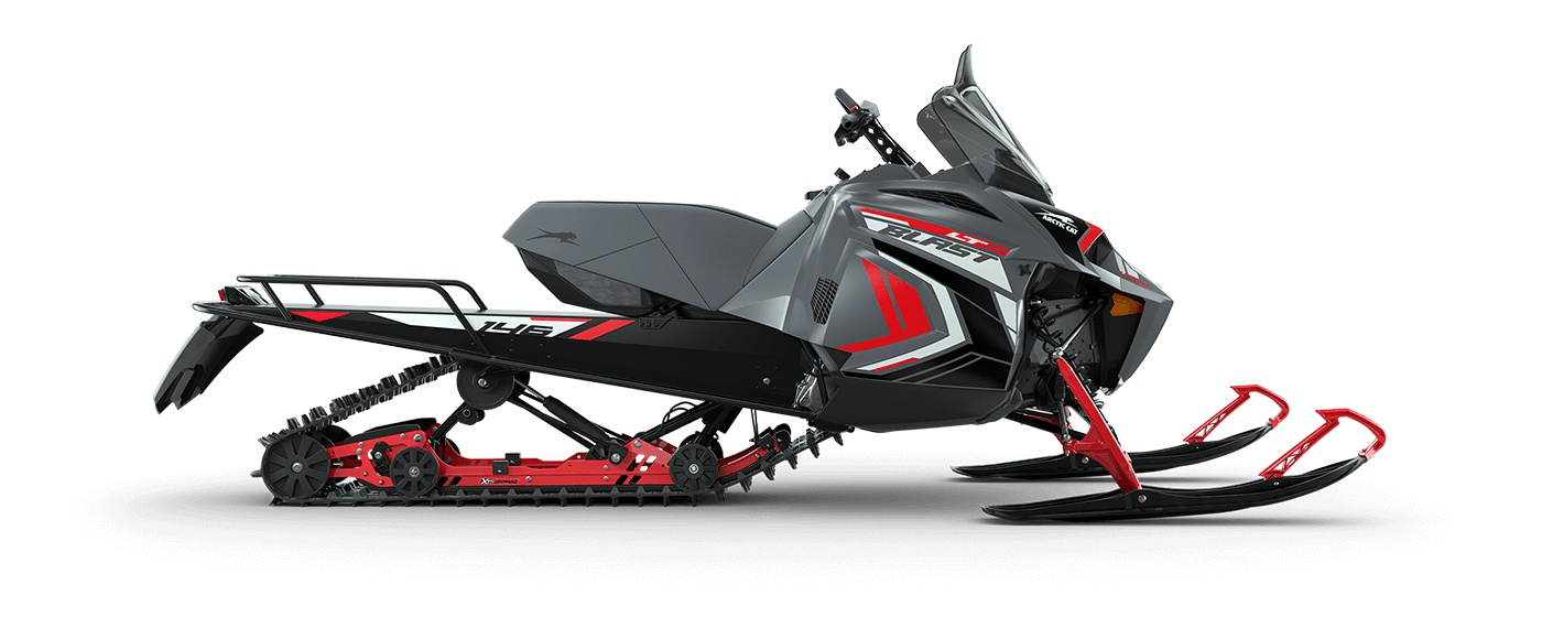 "2022 Arctic Cat BLAST LT 4000 146""/1.60"" Cobra Turn-Key Electric AMS Dynamic Charcoal/Fire Red"