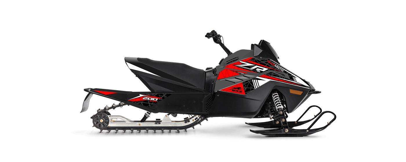 Arctic Cat ZR 200 93po/1,00po Cobra Turn-Key électrique AWS Charbon dynamique/rouge feu 2022