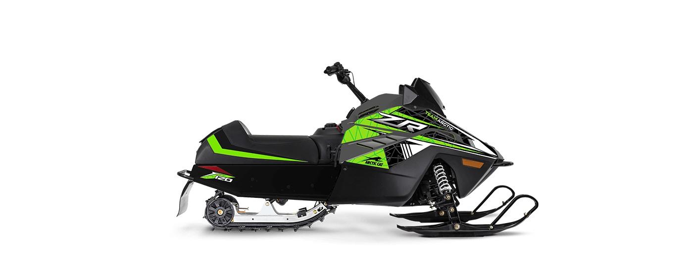 Arctic Cat ZR 120 67po/0,75po Cobra Manuel AWS Charbon dynamique/Vert moyen 2022