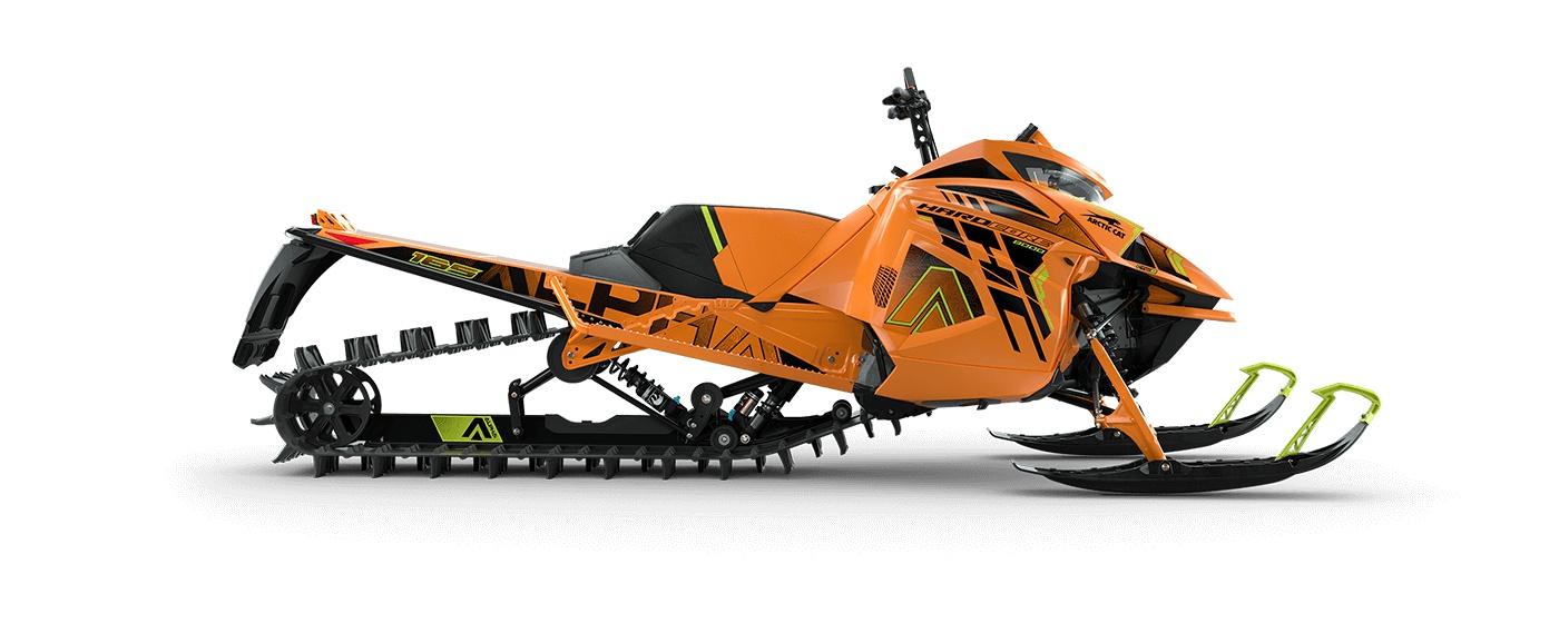 Arctic Cat M 8000 Hardcore Alpha One 165po/3,00po PowerClaw Manuel AMS avec amortisseurs QS3 Orange/ Vert Hyper 2022