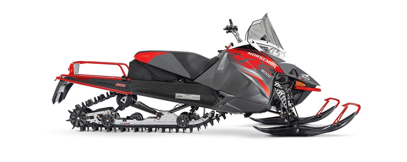 Arctic Cat Norseman X 8000 153po/2,25po PowerClaw Bouton-poussoir électrique ARS Charbon dynamique/rouge feu 2022
