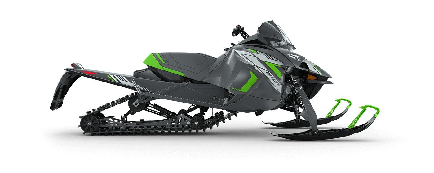 "2022 Arctic Cat Riot 8000 146""/1.35"" Cobra Push Button Electric ARS II w/ QS3 Shocks Dynamic Charcoal/Medium Green"