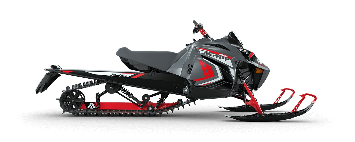"""2022 Arctic Cat BLAST M 4000 146""""/2.00"""" Challenger Turn-Key Electric AMS Dynamic Charcoal/Fire Red"""