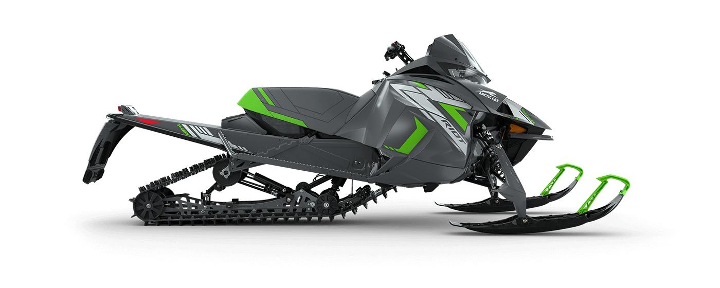 "2022 Arctic Cat Riot 8000 146""/1.60"" Cobra Push Button Electric ARS II w/ QS3 Shocks Dynamic Charcoal/Medium Green"