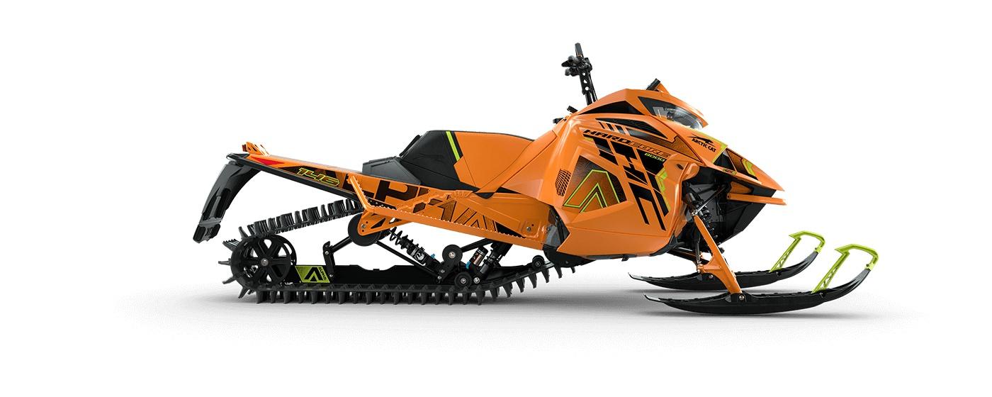 Arctic Cat M 8000 Hardcore Alpha One 146 po/2,60 po PowerClaw Manuel AMS avec amortisseurs QS3 Orange/ Vert Hyper 2022