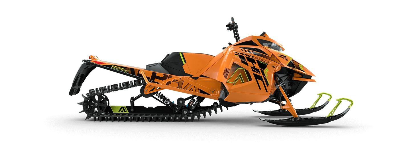 Arctic Cat M 8000 Hardcore Alpha One 154 po/2,60 po PowerClaw Manuel AMS avec amortisseurs QS3 Orange/ Vert Hyper 2022