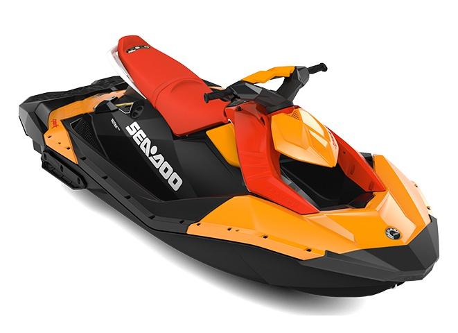 2022 Sea-Doo Spark 3 up Orange Crush/Lava Red