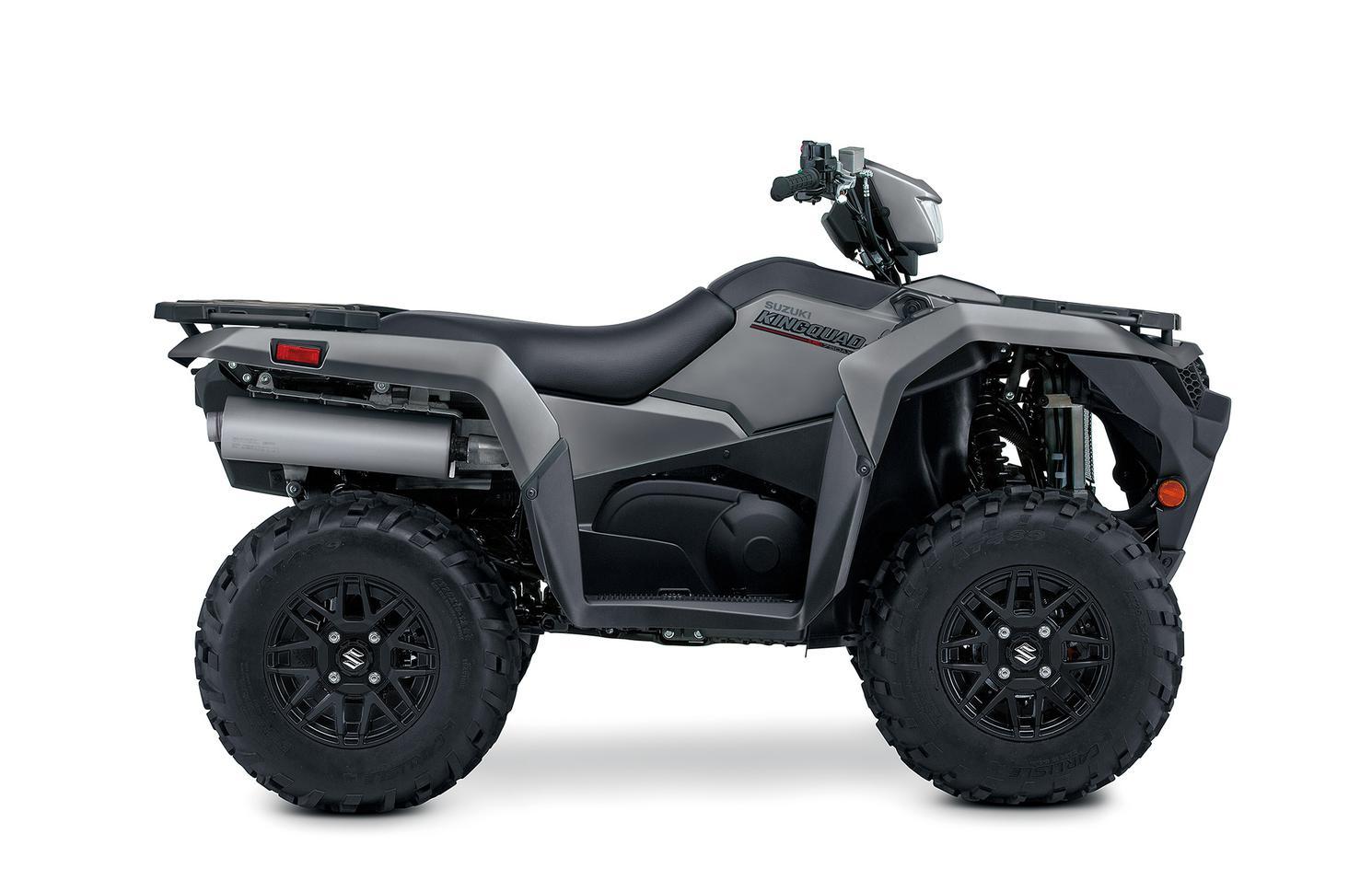Suzuki KingQuad 500XPZ Grise Mat Métallique, Roues Mag Noir 2022