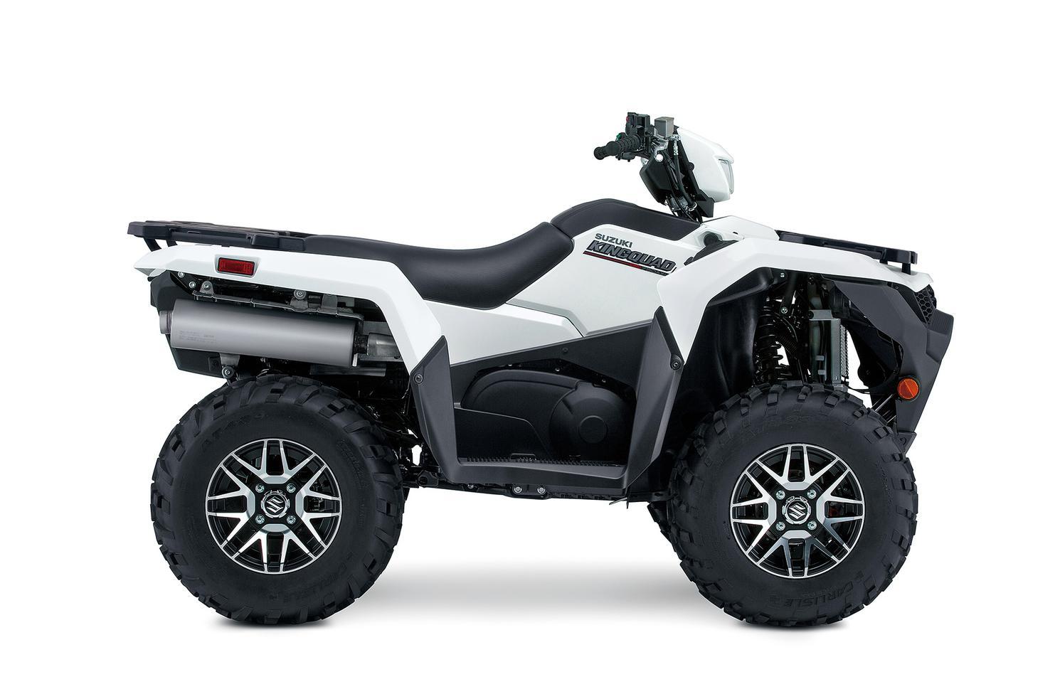 Suzuki KingQuad 500XPZ Solide Spécial Blanc, Roues Mag 2022