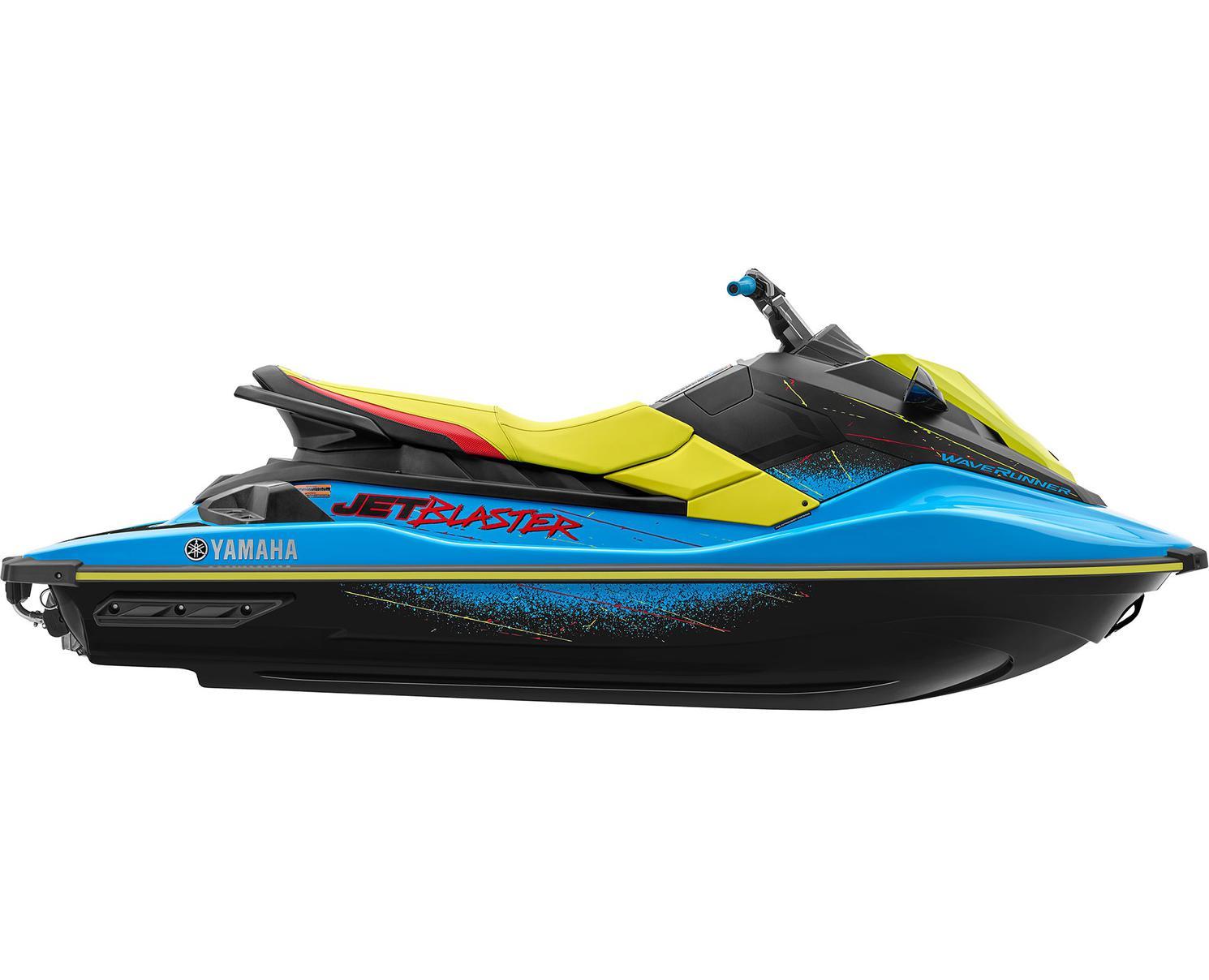 2022 Yamaha Jet Blaster Cyan/Lime Yellow