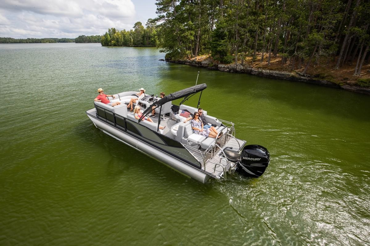 2021 Manitou Pontoon boat for sale, model of the boat is SES & Image # 3 of 6