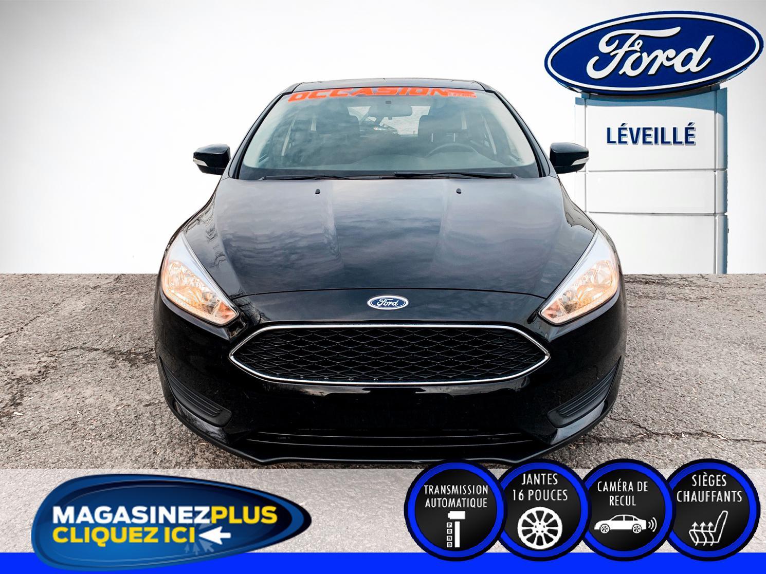 2018 Ford Focus *SE HATCHBACK*AUTOMATIQUE 6 VITESSES*VOLANT ET SIÈGES CHAUFFANTS*RÉTROVISEURS GRAND ANGLE ÉLECTRIQUES ET CHAUFFANTS*TAPIS 4 SAISONS*CAMÉRA DE RECUL*SYSTÈME COMMANDE VOCALE SYNC*BLUETOOTH*PORT USB*PRISE 12 VOLTS*MAGS 16 POUCES*