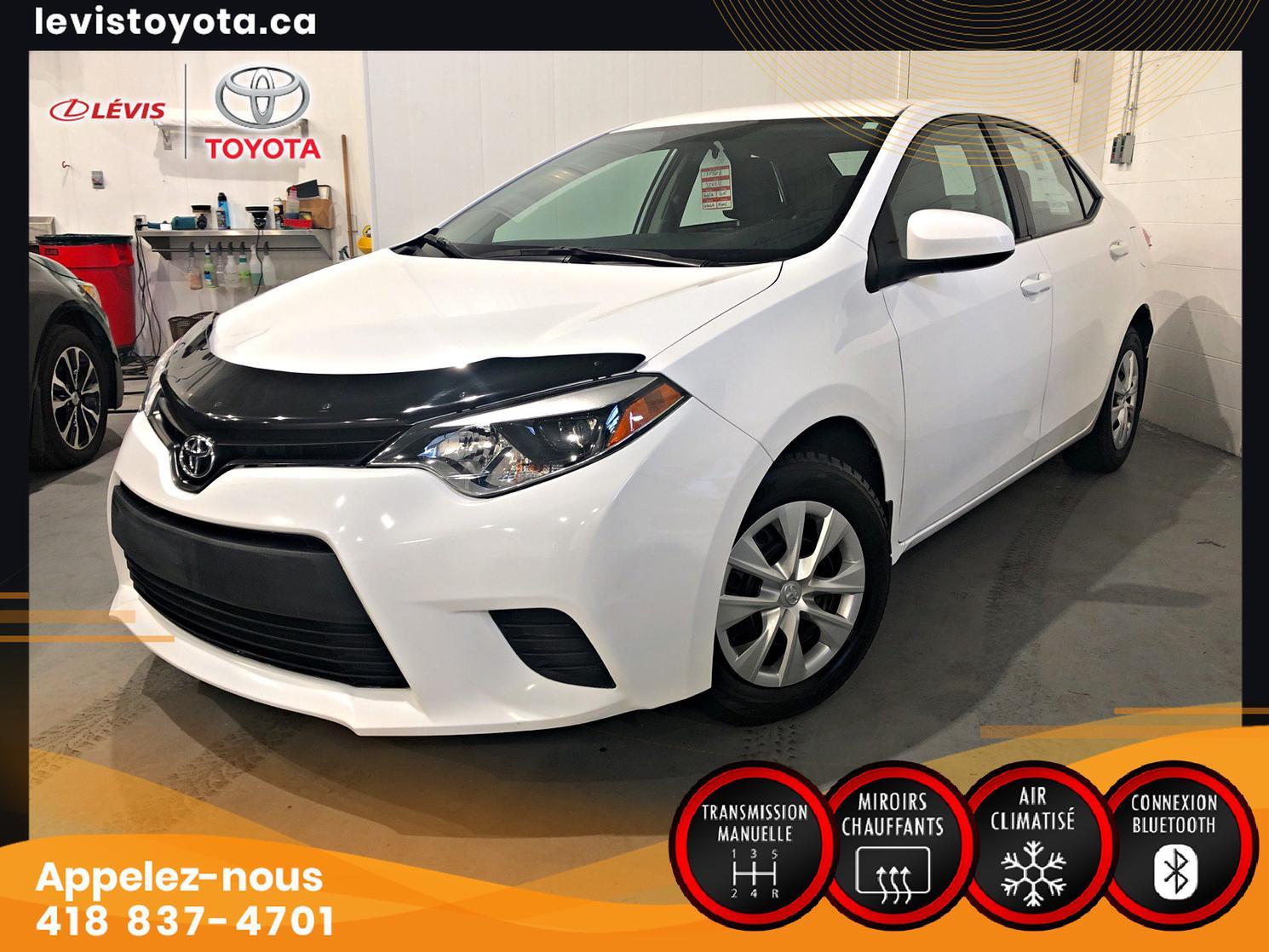Toyota Corolla CE MANUELLE A/C 2015