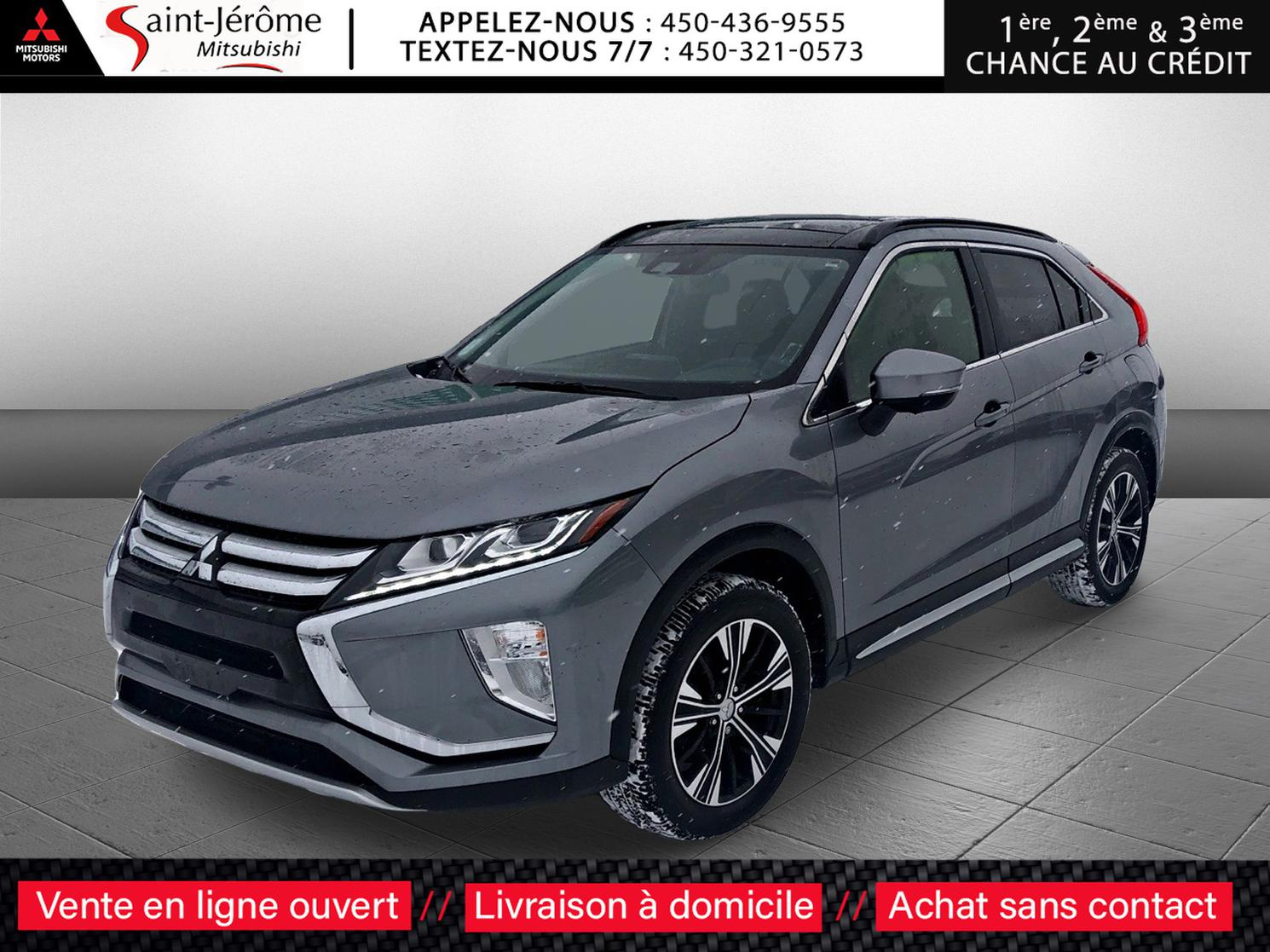 Mitsubishi Eclipse Cross GT S-AWC TOÎT OUVRANT + CUIR + CAMÉRA 360 + MAGS 18 PO +++ 2019