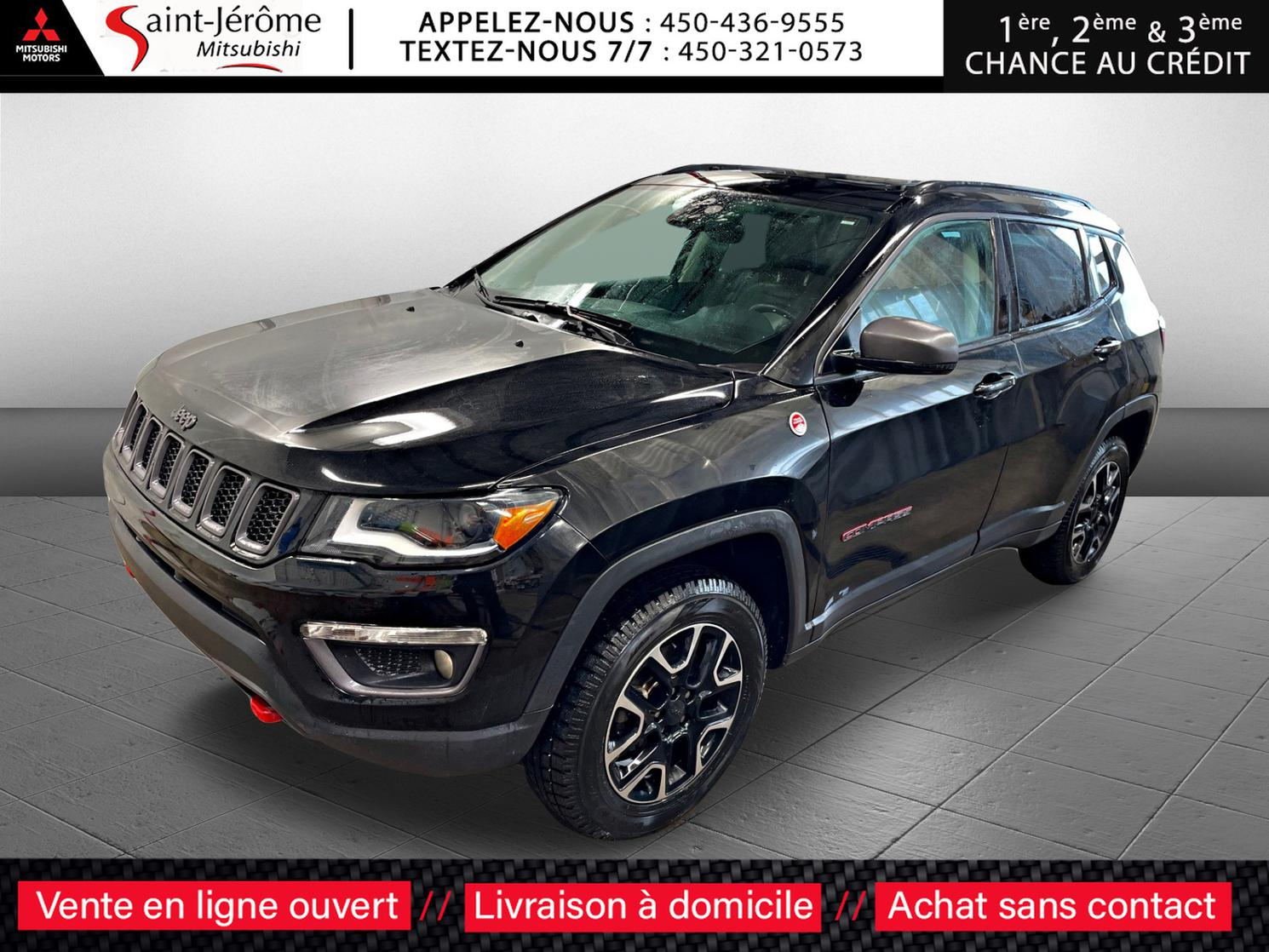 2018 Jeep Compass TRAILHAWK – CUIR + NAV + AWD !!!! + TOIT PANORAMIQUE