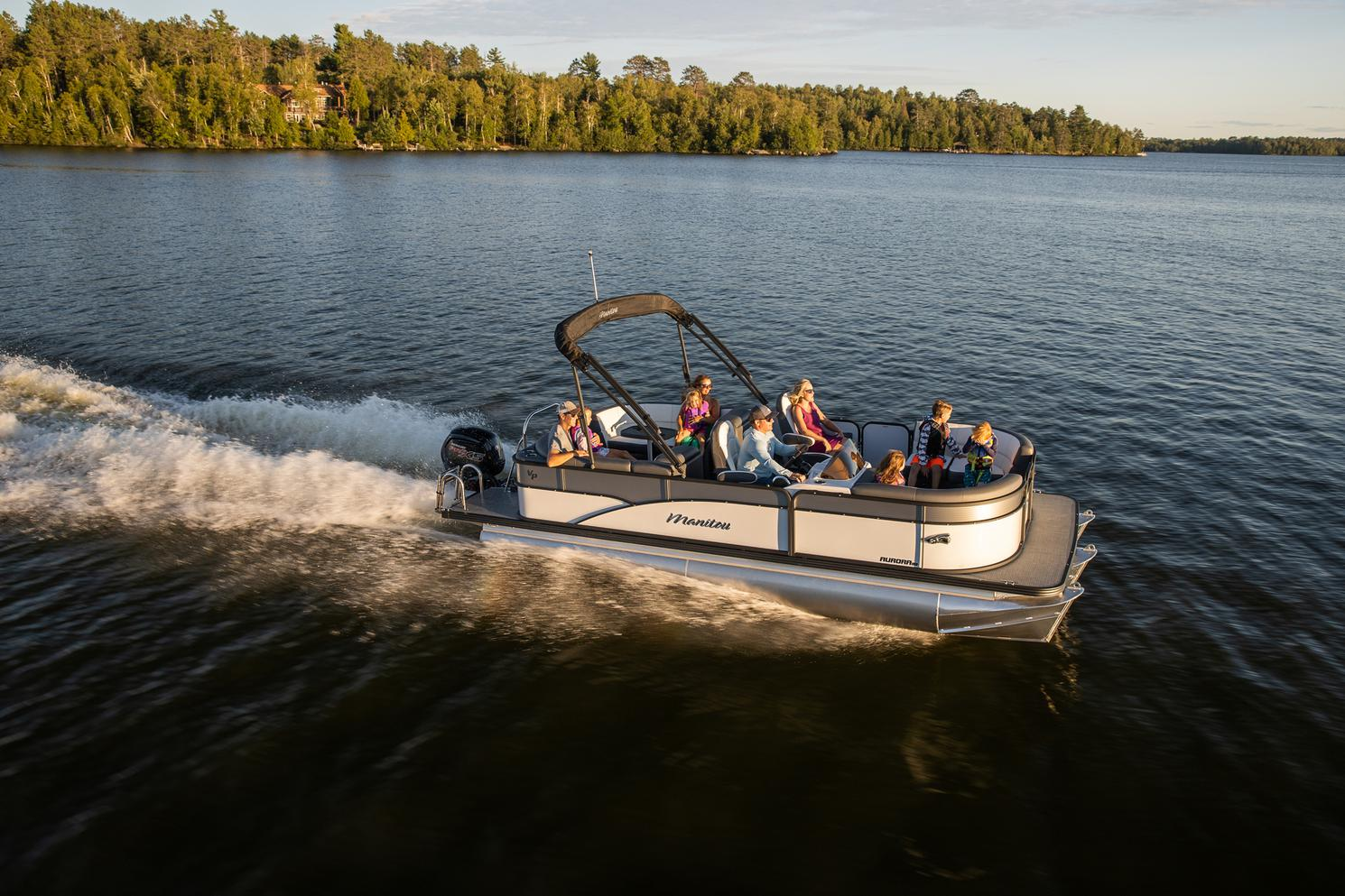 2021 Manitou Pontoon boat for sale, model of the boat is AURORA & Image # 10 of 11