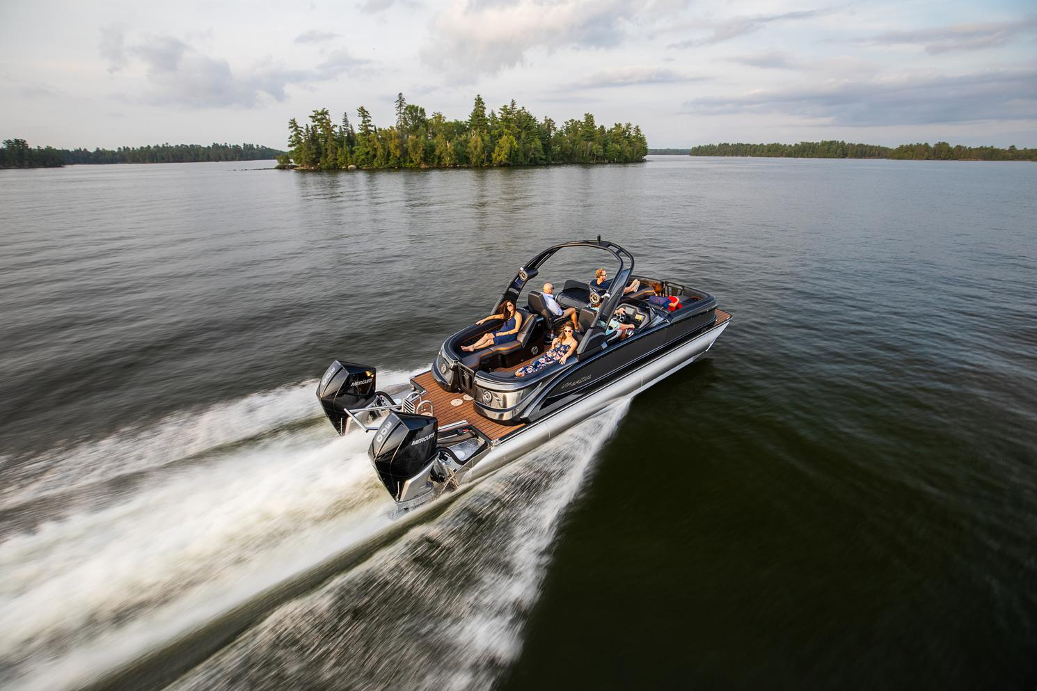 2022 Manitou Pontoon boat for sale, model of the boat is XT 27 & Image # 7 of 18