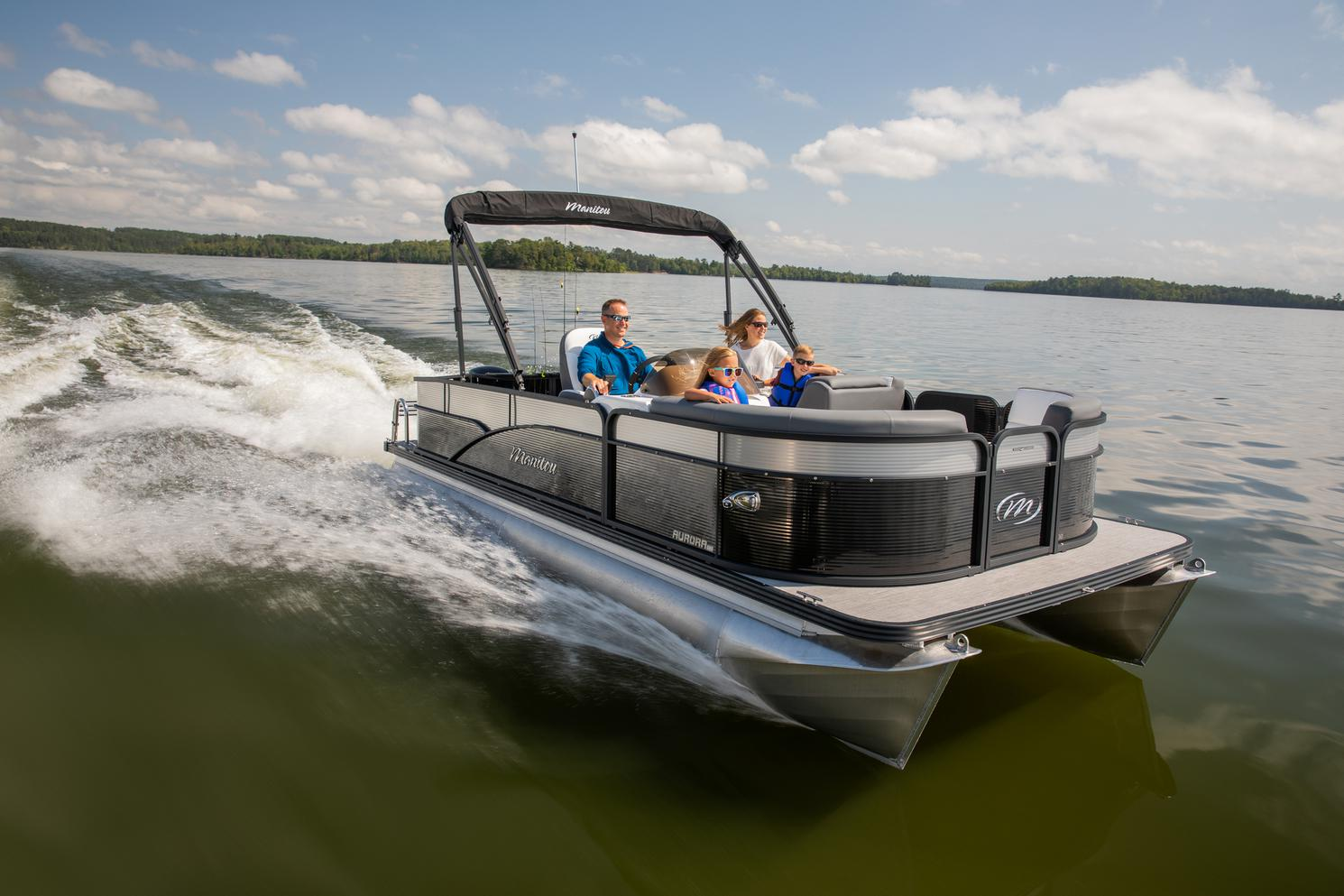 2021 Manitou Pontoon boat for sale, model of the boat is AURORA & Image # 5 of 8