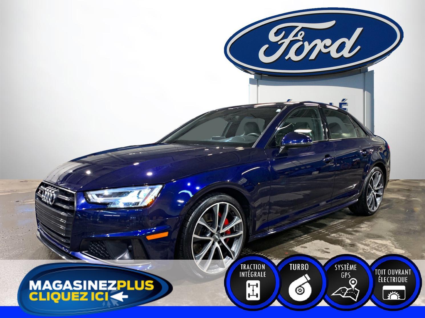 Audi S4 berline *S4 QUATTRO PROGRESSIV*3 LITRES TURBO*BLEU TU 2019