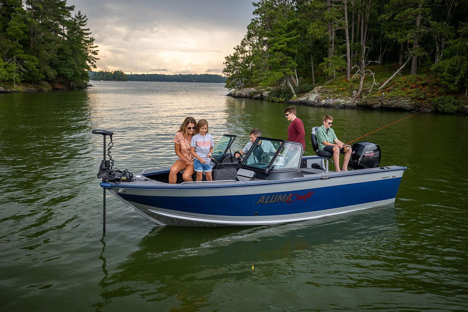 2021 Alumacraft boat for sale, model of the boat is ALUMACRAFT TROPHY 195 & Image # 5 of 6