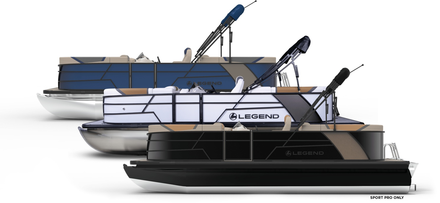 2022 Legend E series Tri-TOON 23 Dual Lounge Sport BLACK