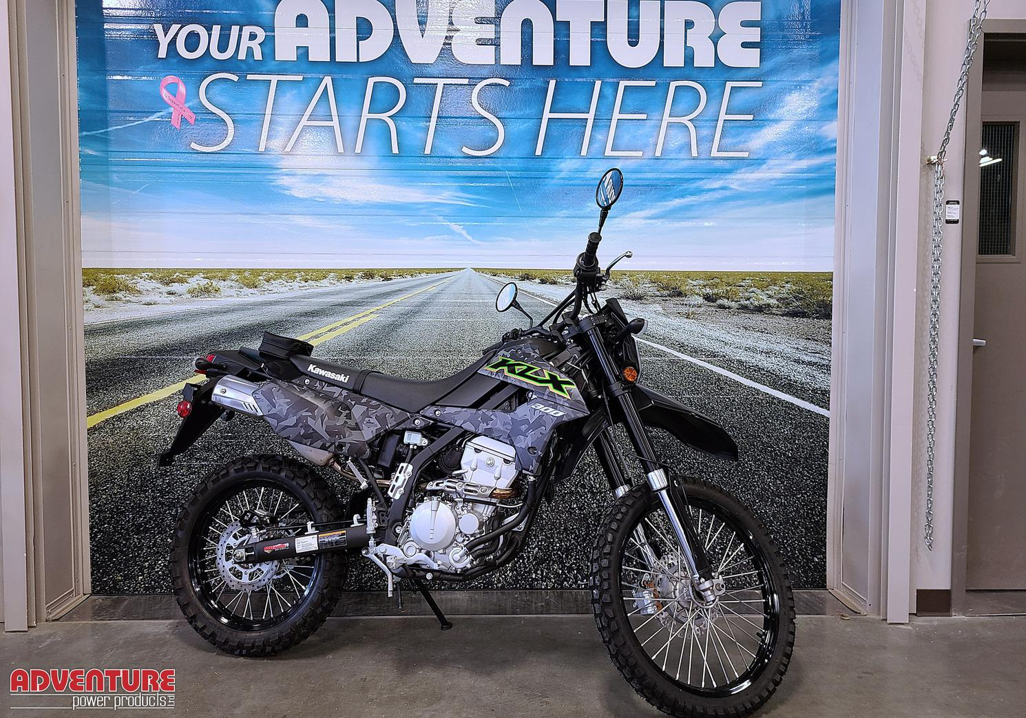 2021 Kawasaki KLX300 Fragment Camo Gray