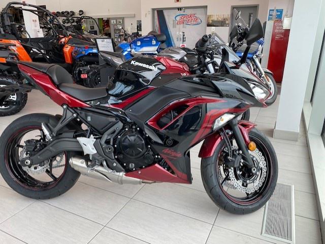 Kawasaki Ninjas 650 2021 - financement kaw. 3.99% terme 60 mois 58,00$ sem. taxes inclues